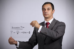 Businessman with ideas for success royalty free stock photo