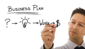 Businessman with ideas for success Stock Photo