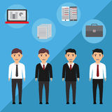 Businessman Illustration. Illustration businessman with flat design Stock Images