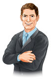 Businessman illustration Stock Photo