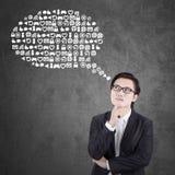 Businessman imagine web icons Stock Image