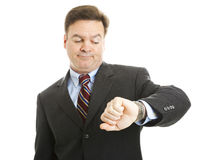 Businessman - Impatience Stock Image