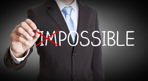 Businessman impossible solution concept Royalty Free Stock Image
