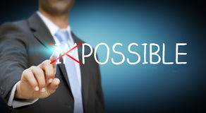 Businessman impossible solution concept Royalty Free Stock Photo