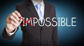 Businessman impossible solution concept Stock Images