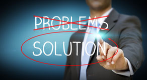Businessman impossible solution concept Royalty Free Stock Photos