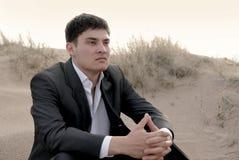 Free Businessman In Desert Royalty Free Stock Photo - 15311465