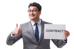 Free Businessman In Employment Contract Concept  On White Bac Stock Photography - 163764552