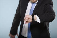 Free Businessman In Hurry Watching His Royalty Free Stock Photography - 29095657