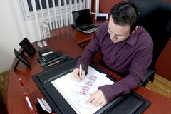 Businessman In Office Stock Photography