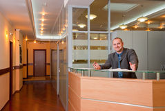 Businessman In The Modern Office Royalty Free Stock Images