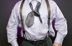 Businessman with Incorrectly tied necktie Royalty Free Stock Photo