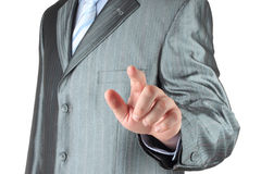 Businessman with indicating hand Royalty Free Stock Photography