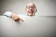 Businessman indicating Royalty Free Stock Images