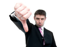 Businessman Indicating Thumbs Down Royalty Free Stock Photo