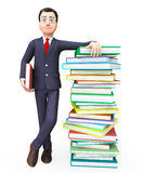 Businessman With Information Indicates Professional Schooling And Trade Royalty Free Stock Image