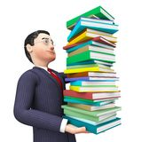Businessman With Information Shows College Study And Advisor Royalty Free Stock Images