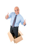 Businessman inside a box Stock Images