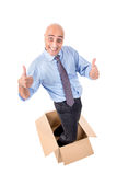 Businessman inside a box Royalty Free Stock Images