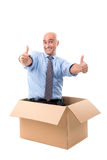 Businessman inside box Royalty Free Stock Images