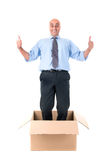 Businessman inside box Royalty Free Stock Photos