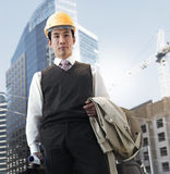 Businessman inspecting construction site Royalty Free Stock Photo