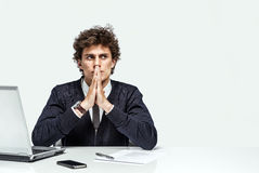 Businessman with intense expression Royalty Free Stock Photography