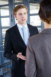 Businessman interacting with his business colleague Royalty Free Stock Images