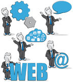 Businessman and internet Stock Images