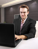 Businessman on the internet Royalty Free Stock Image
