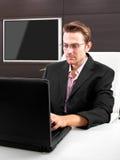 Businessman on the internet Royalty Free Stock Photos
