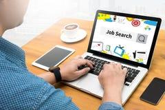 Businessman Internet Online Job Search Stock Images