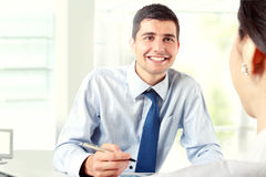 Businessman Interviewing Royalty Free Stock Photography