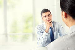 Businessman Interviewing Royalty Free Stock Photo