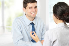 Businessman interviewing Stock Photos