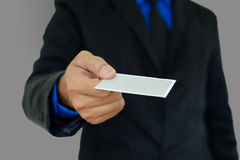 Businessman introduced themselves. Stock Image