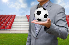Businessman invest in soccer team Royalty Free Stock Images