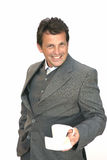 Businessman invite to coffee Stock Photography