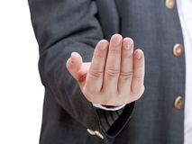 Businessman inviting - hand gesture Stock Photography