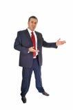 Businessman inviting. Stock Photo