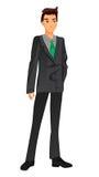 businessman isolated suit white 绿色关系 也corel凹道例证向量 库存图片