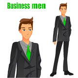 businessman isolated suit white 鲜绿色的领带 也corel凹道例证向量 库存图片