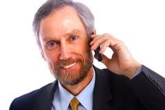 Businessman isolated on white Royalty Free Stock Photos