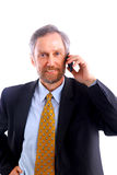 Businessman isolated on white Stock Image