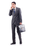 The businessman isolated on the white Royalty Free Stock Photos