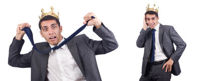 The businessman isolated on the white Royalty Free Stock Image