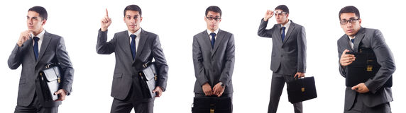 The businessman isolated on the white Stock Photo