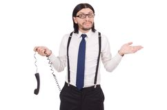 Businessman isolated on the white Stock Photography
