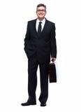 Businessman isolated on white. Stock Image