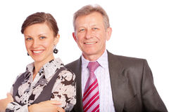 Businessman and its secretary Stock Images